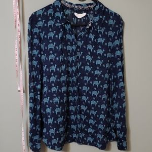 Blue camel print blouse 🐫🐪